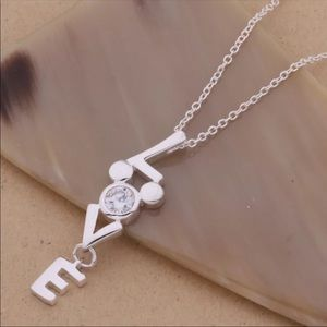LOVE ♡ MICKEY 925 Silver Necklace
